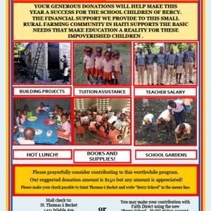 Bercy School – Haiti Mission